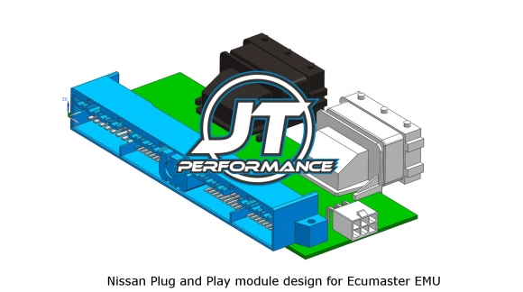 3D render Nissan Plug and Play module for Ecumaster EMU